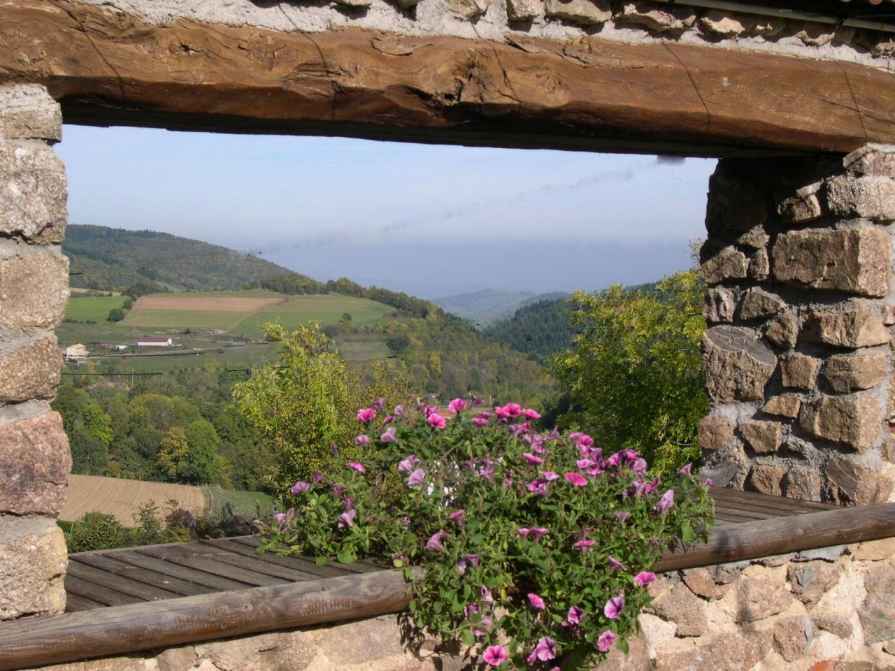 Vue sur les Monts du Lyonnais