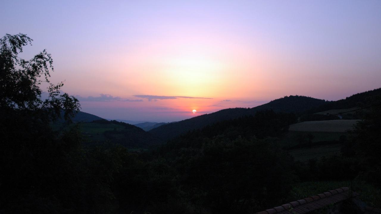 lever de soleil à La Hulotte