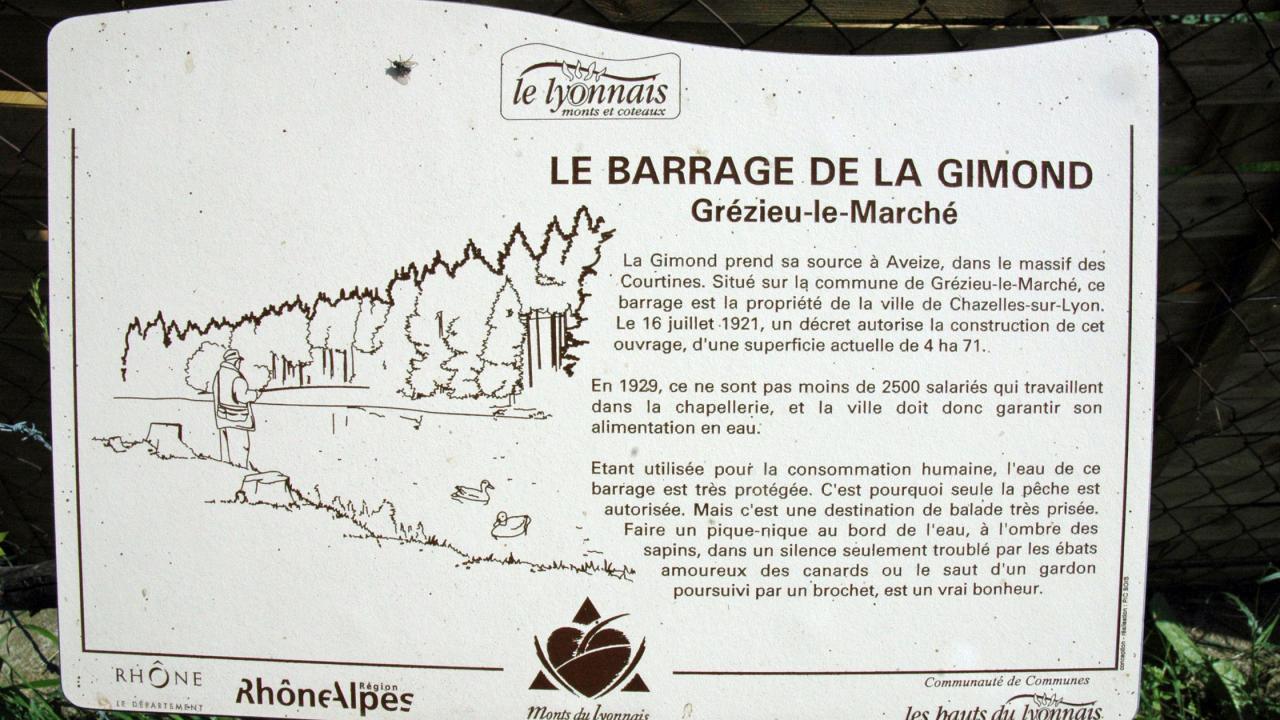 2 - Pique nique,balade, peche au barrage de la Gimond